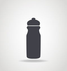 Black icon of water bottle vector