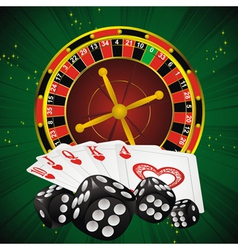 Roulette green dice vector
