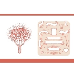 Design elements for wedding and honeymoon vector