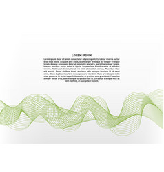 abstract with green waves on white background vector image