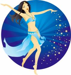 Belly-dance woman vector
