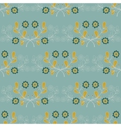 Blue Flowers Seamless Pattern vector image