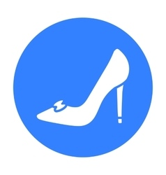 Bride s shoes icon of for web vector
