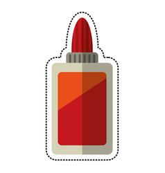 Cartoon bottle glue school vector