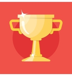 Champions gold cup Icon vector image vector image