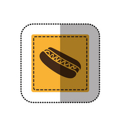 Color emblem hot dog icon vector