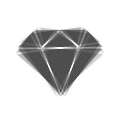 Diamond sign gray icon vector