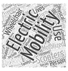 Electric mobility scooters word cloud concept vector