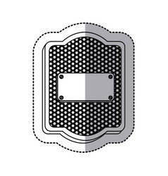 Emblem plaque inside shield icon vector