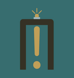 Icon in flat design for airport metal detector vector
