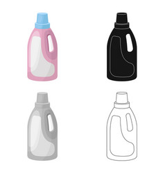 Laundry detergent icon in cartoon style isolated vector