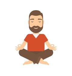 Man meditating vector image