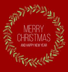 merry christmas in mistletoe frame vector image vector image
