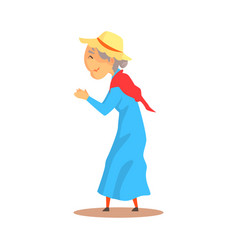 old woman watching something and applauding vector image vector image