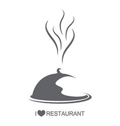 Restaurant food platter with cover vector