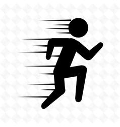 runner avatar design vector image