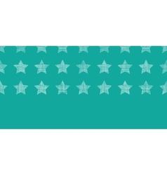 Stars textile textured green horizontal seamless vector image vector image