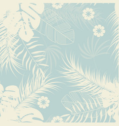 Summer seamless tropical pattern with monstera vector