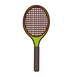 Tennis racket isolated icon vector