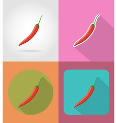 vegetables flat icons 12 vector image vector image