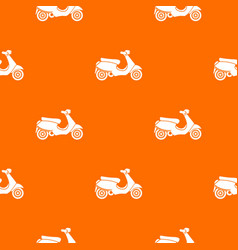 Vespa scooter pattern seamless vector