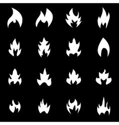 white file icon set vector image