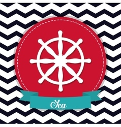 Rudder icon sea lifestyle design graphic vector