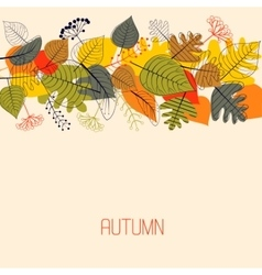 Background from autumn leaves vector