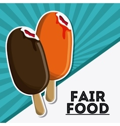 Ice cream fair food snack carnival icon vector