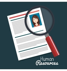 Human resources woman search choose curriculum vector