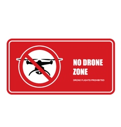 No drone zone sign - quadcopter flights prohibited vector