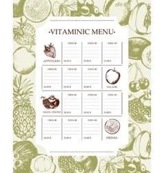 Vitaminic column menu - modern hand drawn vector