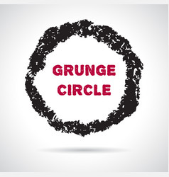 grunge hand drawn round frame vector image