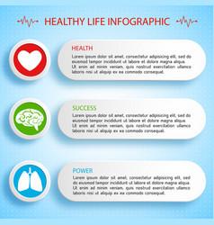 Healthy life infographics vector