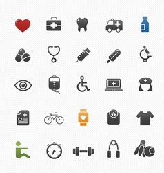 healthy and medical symbol icon set vector image