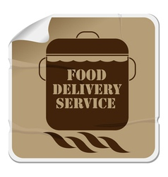 Food delivery sticker vector