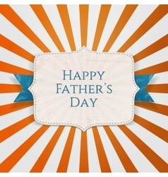 Happy fathers day holiday tag vector
