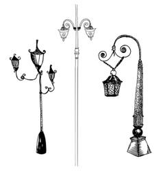 Doodle lantern vector