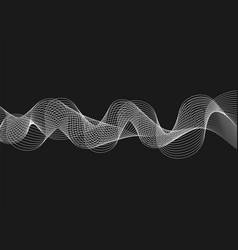 abstract with waves on dark background futuristic vector image vector image