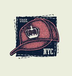Baseball cap on white background vector