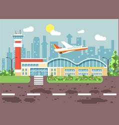 cartoon airport late delay vector image