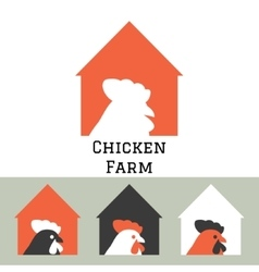 Chicken farm house logo concept vector