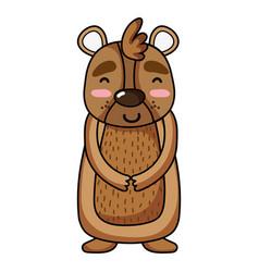Cute and happy bear wild animal vector