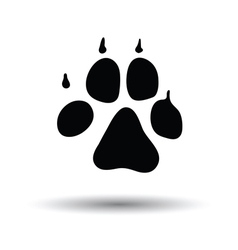 Dog trail icon vector image vector image