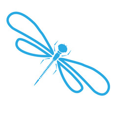Dragon-fly silhouette cartoon graphic vector