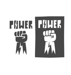 Fist raised up icon black vector