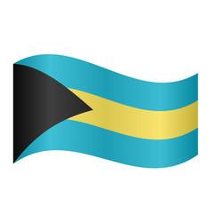 flag of bahamas waving on white background vector image vector image