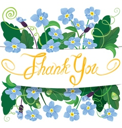 flowers thank you 380 vector image