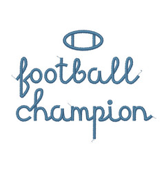 football champion decoration vector image vector image
