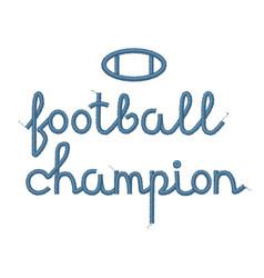 Football champion decoration vector